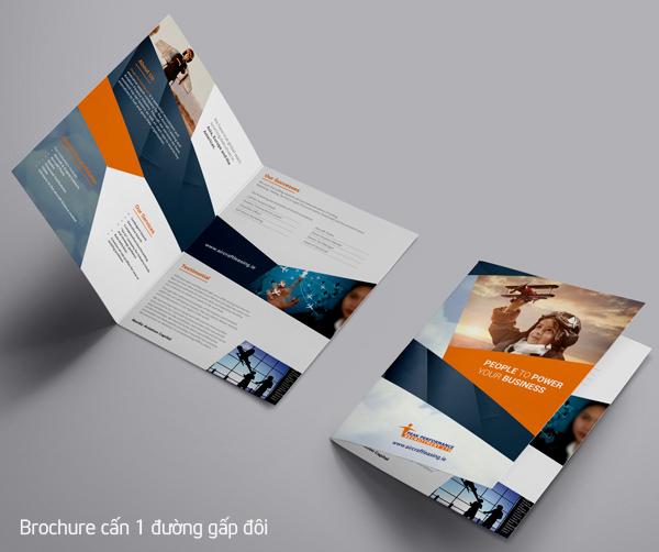 Brochure cấn 1 đường gấp đôi