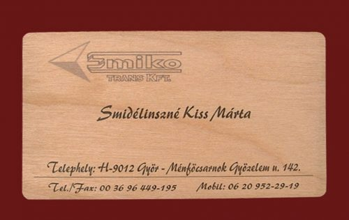 name card bằng gỗ
