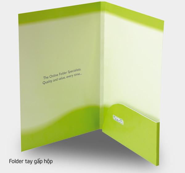 Folder tay gấp hộp