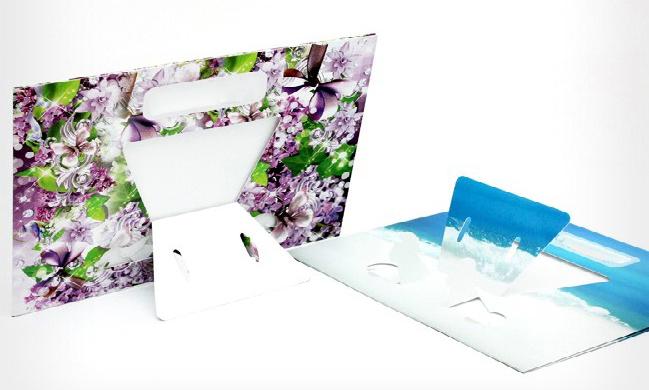 in khung hình để bàn bằng giấy cao cấp