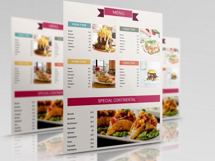 in menu cao cấp