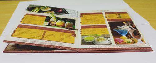 menu mở phẳng