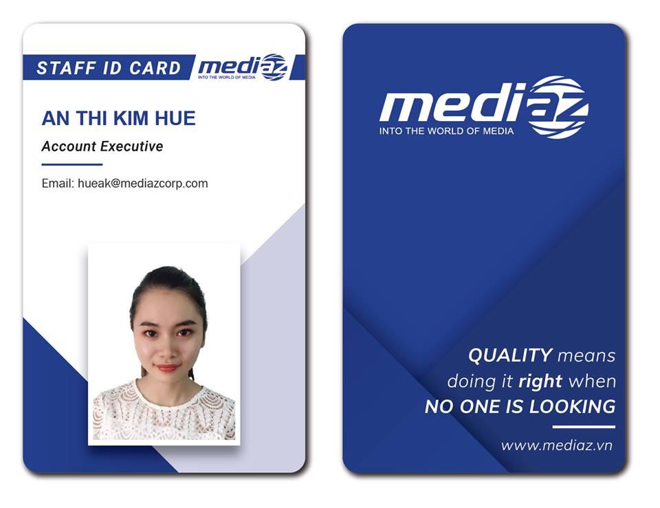 in thẻ nhân viên bằng pvc