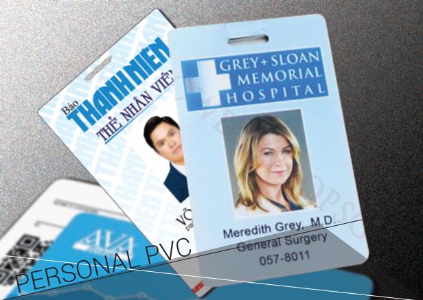 Thẻ nhân viên bằng PCV