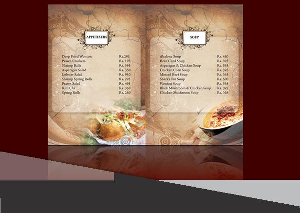 in menu nhà hàng cán keo bóng