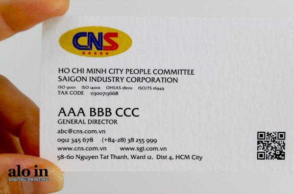 In name card lấy liền trên giấy mỹ thuật