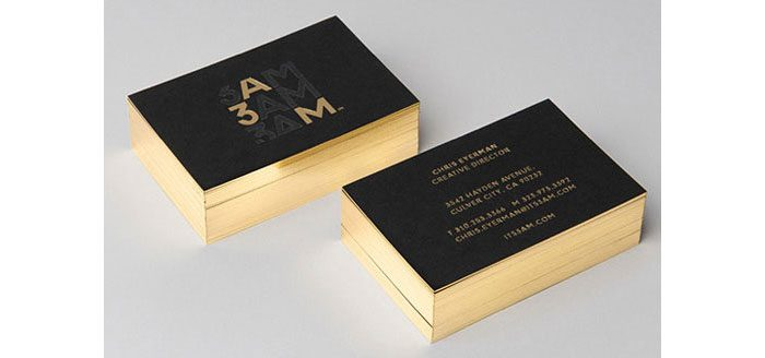In Nhanh Name Card Phủ Viền Nhũ Vàng 4 Cạnh