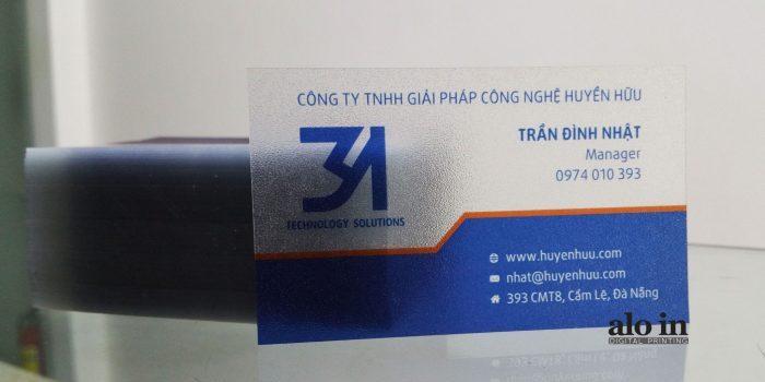In Name Card Trong Trên Giấy Nhựa Trong Cao Cấp Cán Laminate